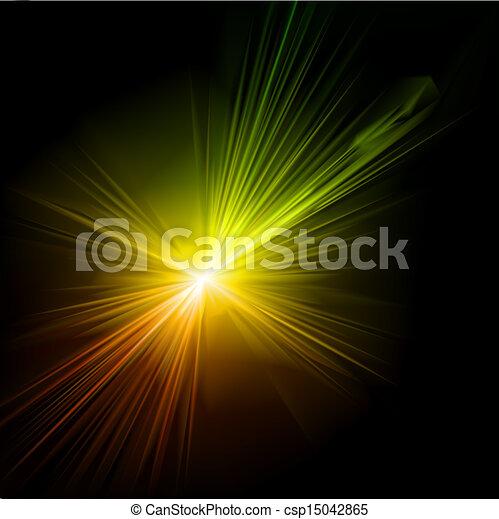 effect., luce, vettore, bagliore - csp15042865