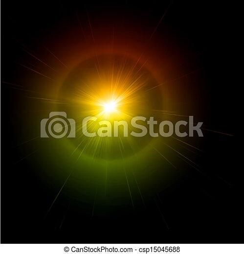 effect., luce, vettore, bagliore - csp15045688