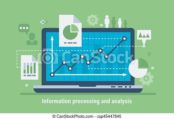 elaborazione, analisi, informazioni - csp45447845