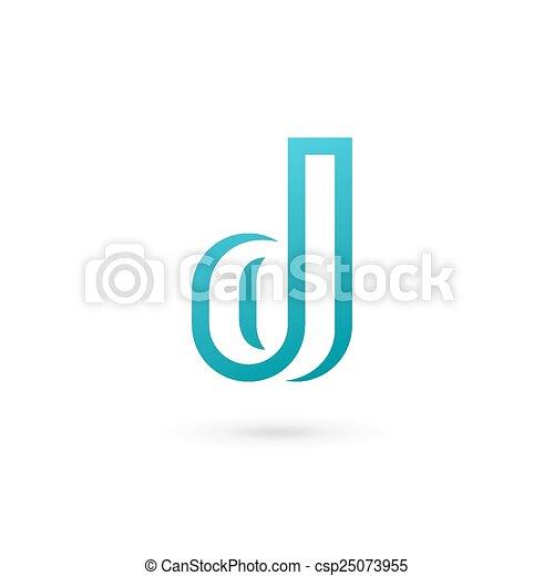 elementi, d, disegno, lettera, logotipo, icona, sagoma - csp25073955