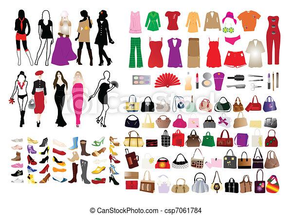 elementi, donne, moda - csp7061784