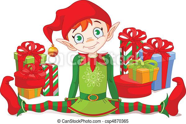 elfo, regali natale - csp4870365