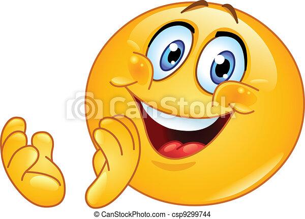 emoticon, battimano - csp9299744