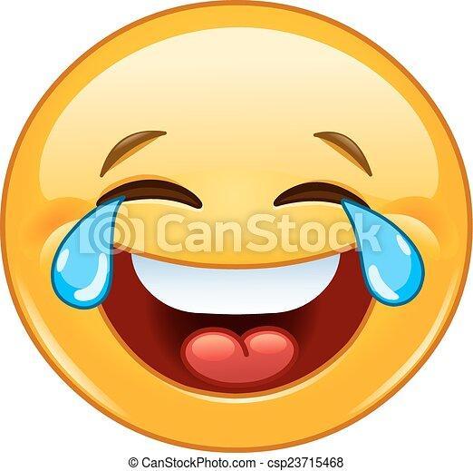 emoticon, gioia, pianto - csp23715468
