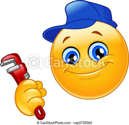 emoticon, idraulico - csp3735563