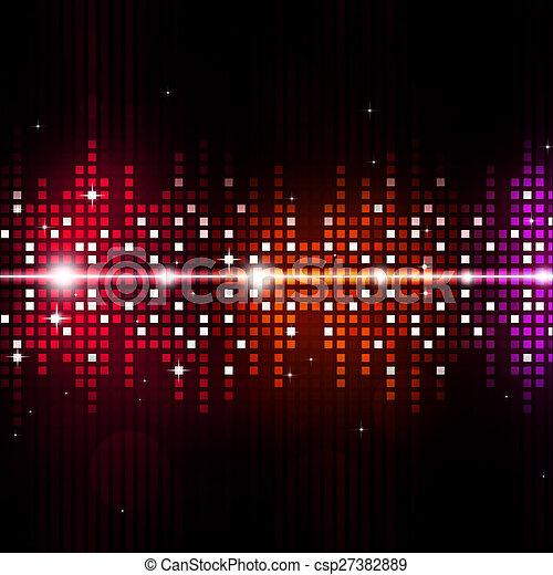 equalizzatore, multicolor, musica, fondo - csp27382889