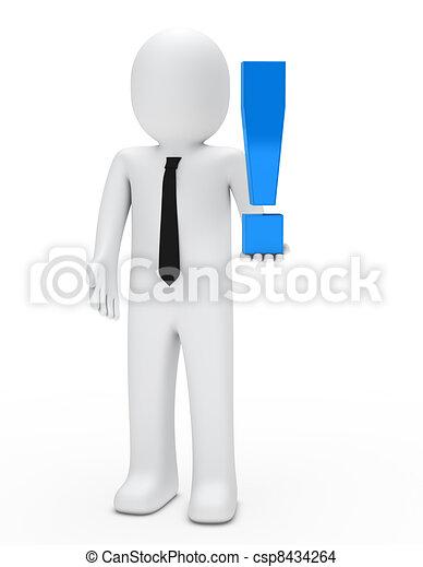 esclamazione, presa, uomo, marchio - csp8434264