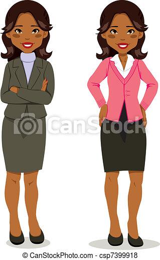 esecutivo, donna, nero - csp7399918