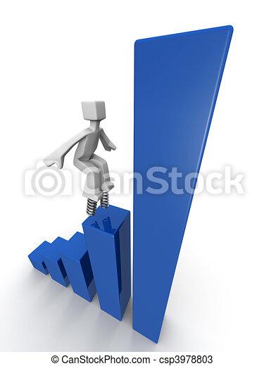 esecuzione, concetto finanziario, crescita - csp3978803