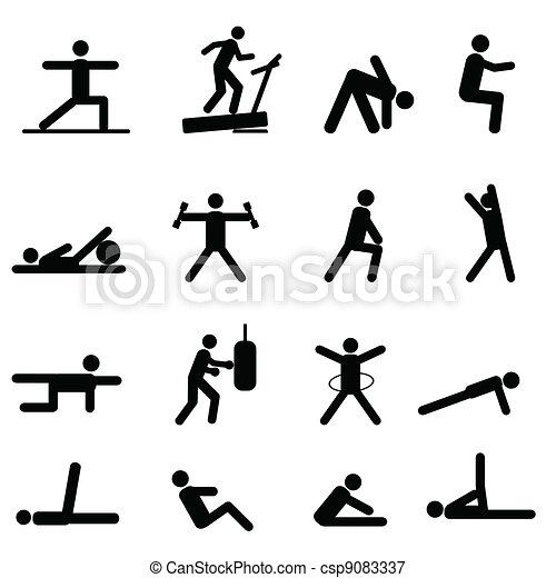 esercizio idoneità, icone - csp9083337