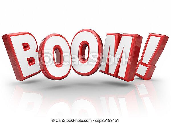 esplosivo, vendite, miglioramento, aumento, crescita, boom, parola, 3d, economia - csp25199451