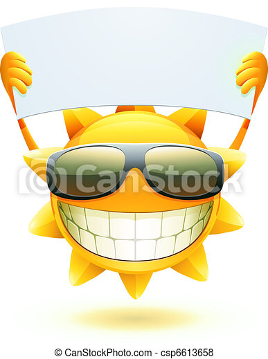 estate, felice, sole - csp6613658