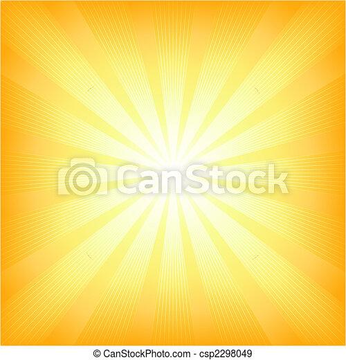 estate, sole, quadrato, scoppio leggero - csp2298049