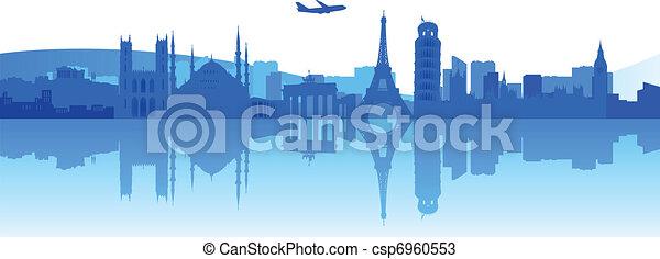 europa, viaggiante, intorno - csp6960553