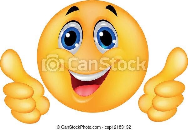 faccia felice, smiley, emoticon - csp12183132