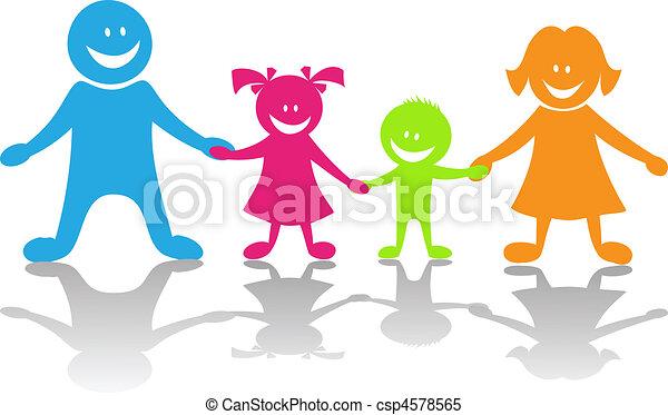 famiglia, felice - csp4578565