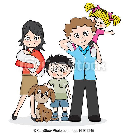 famiglia, felice - csp16105845