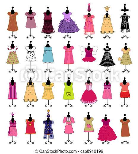 fashion., set, ve, girls., vestiti - csp8910196