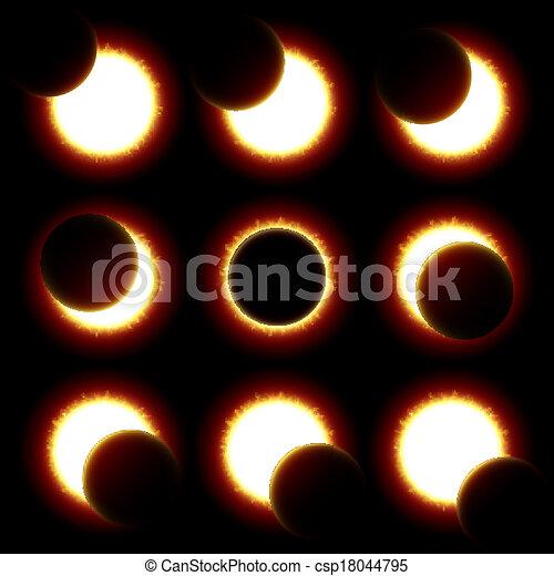 fasi, eclissi, solare - csp18044795