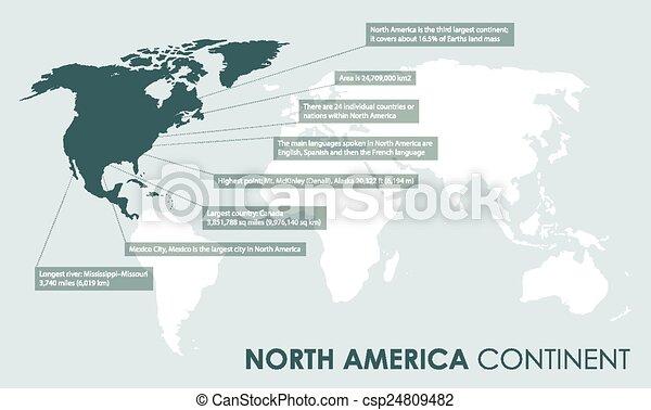 fatti, americano, nord, continente, indietro - csp24809482