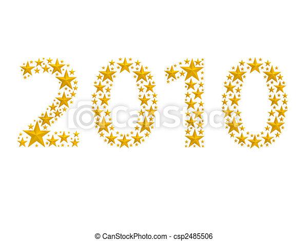 fatto, 2010, stelle - csp2485506