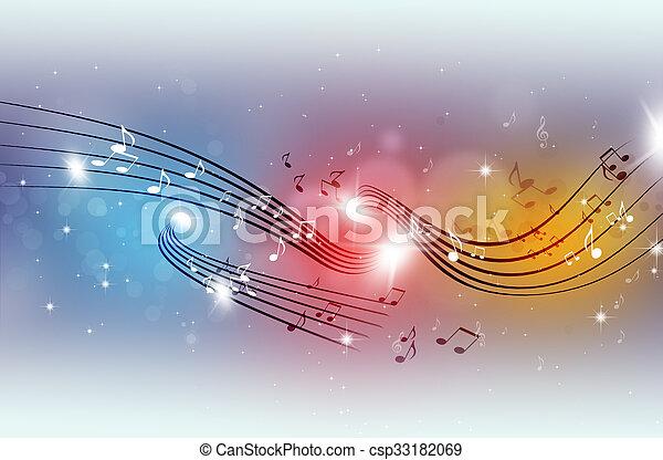 festa, multicolor, note musica - csp33182069