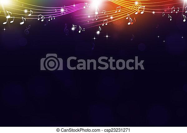 festa, note, musica, fondo - csp23231271