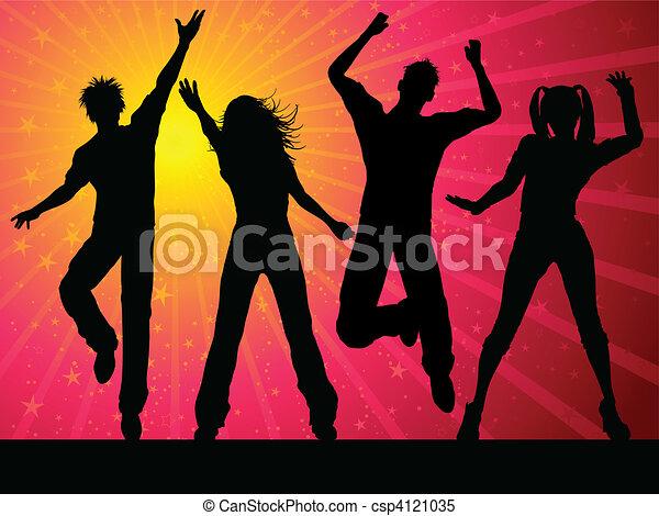 festa, persone, ballo - csp4121035