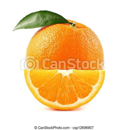 fetta arancia, succoso - csp12696907