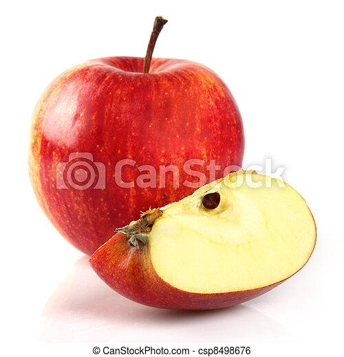fetta, mela, rosso - csp8498676
