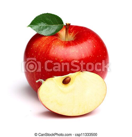 fetta, succoso, mela - csp11333500