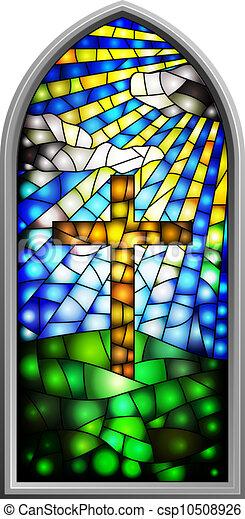 finestra vetro, macchiato - csp10508926