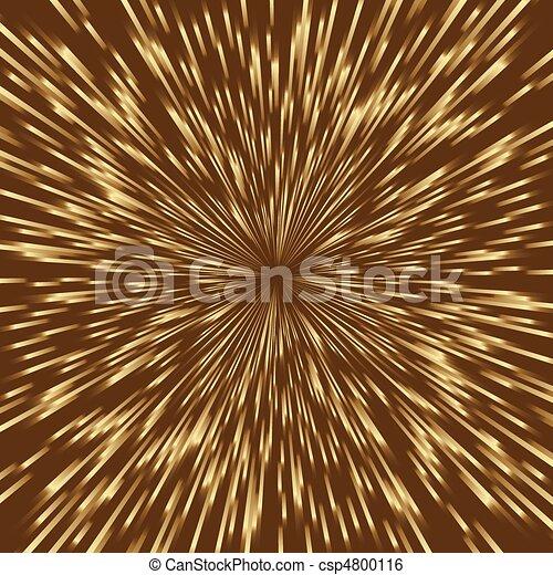 fireworks, dorato, quadrato, centro, scoppio, luce, stilizzato, mezzo, image. - csp4800116