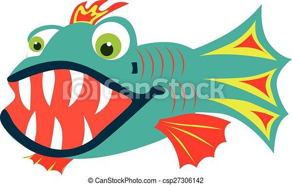 fish, teeth affilato - csp27306142