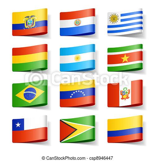 flags., america., mondo, sud - csp8946447