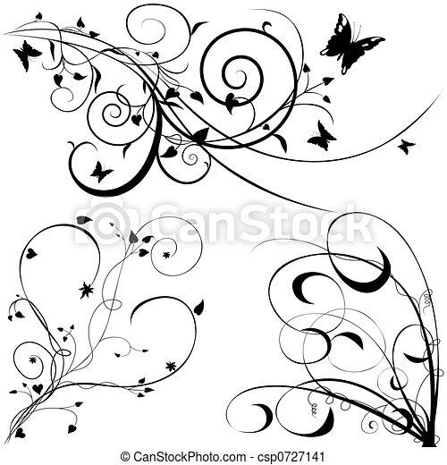 floreale, c, elementi - csp0727141