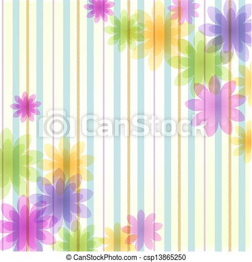 floreale, striscia, fondo - csp13865250