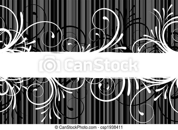 floreale, testo, astratto, cornice - csp1938411