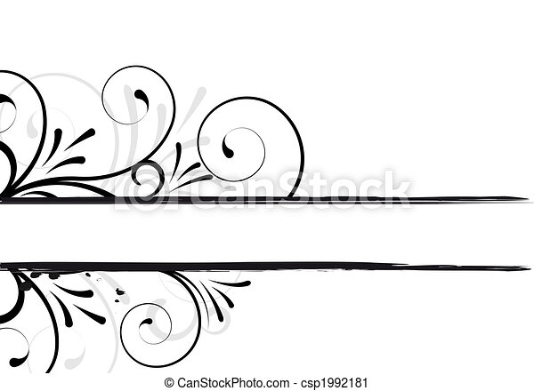 floreale, testo, cornice - csp1992181