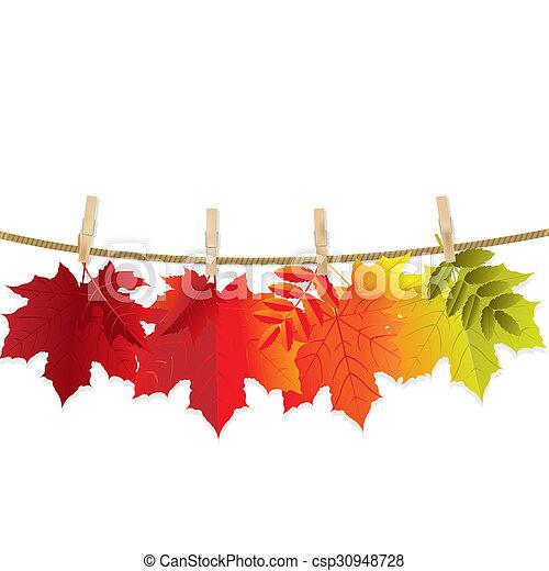 foglia autunno - csp30948728