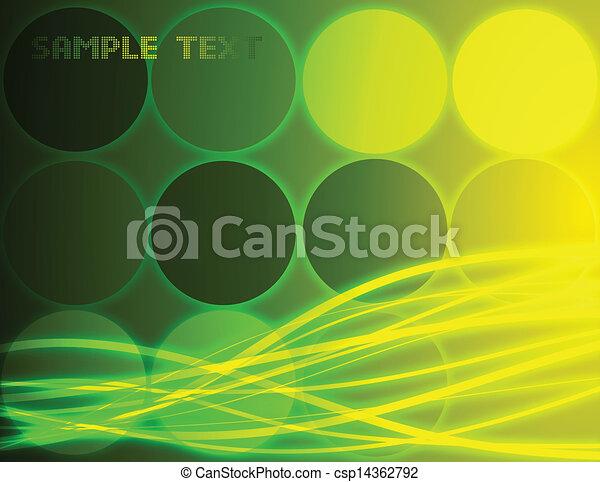 fondo., astratto, vettore, verde - csp14362792