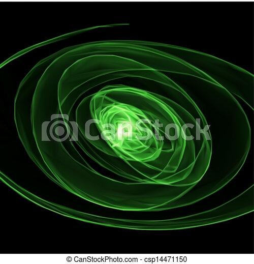 fondo., astratto, vettore, verde - csp14471150