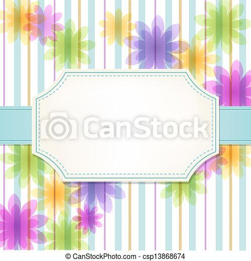 fondo, fiore, fresco, striscia - csp13868674