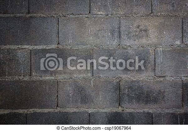 fondo, parete, solido, mattone concreto - csp19067964