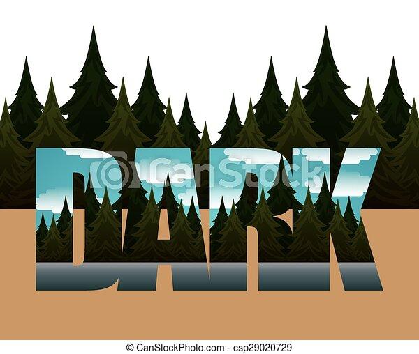foresta, paesaggio - csp29020729
