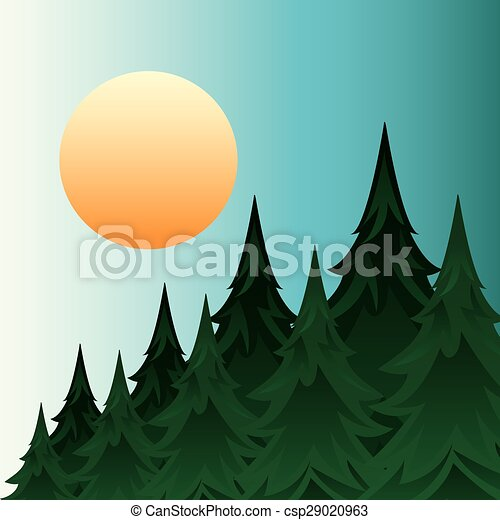 foresta, paesaggio - csp29020963