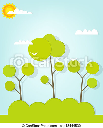 foresta, paesaggio - csp18444530