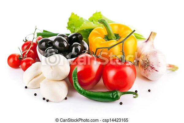formaggio, verdura, italiano, mozzarella, fresco - csp14423165