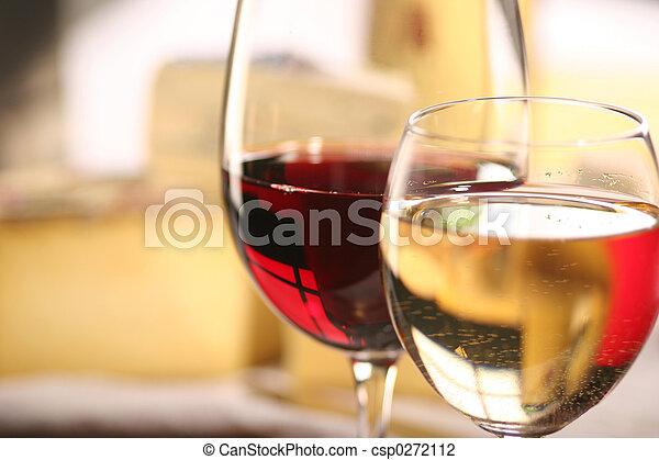formaggio, vino - csp0272112