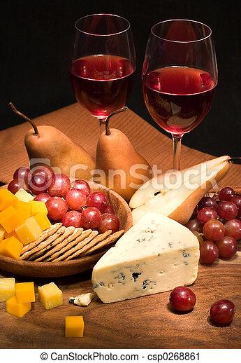 formaggio, vino - csp0268861